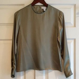 LORD & TAYLOR Silk Blouse 2P